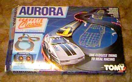 AFX Corvette Classic model race set