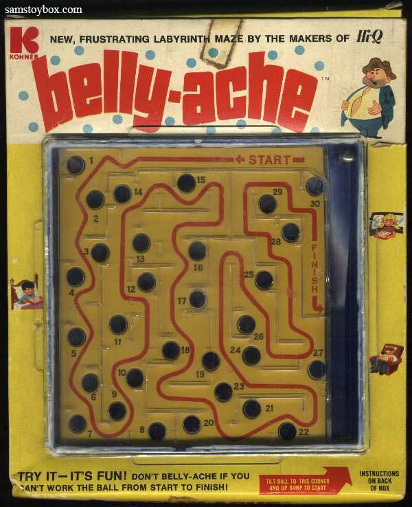 Belly-Ache Puzzle Maze with its Box