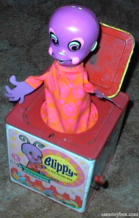 Mattel's Blippy musical Jack-in-the-Box