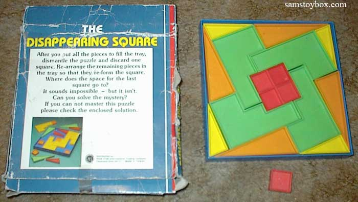 Disappearing Square Puzzle with four small squares