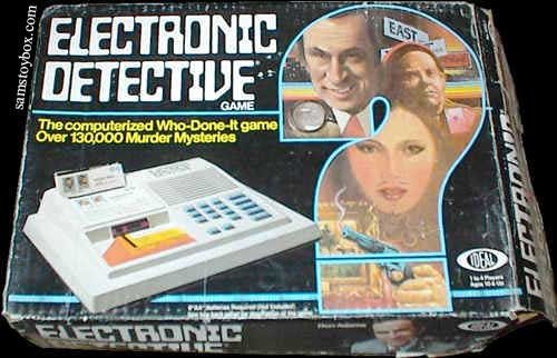 Electronic Detective Game Box