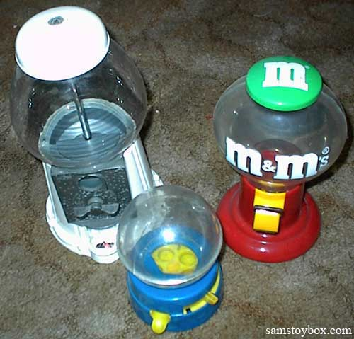 Three different Gumball Machines