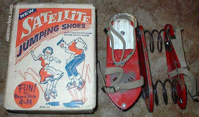 Satellite Jumping Shoes Game with its Box