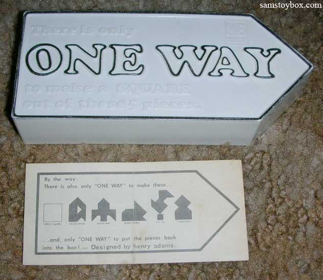 One Way Puzzle tray and instructions