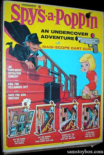 The Spy's-A-Poppin Game box